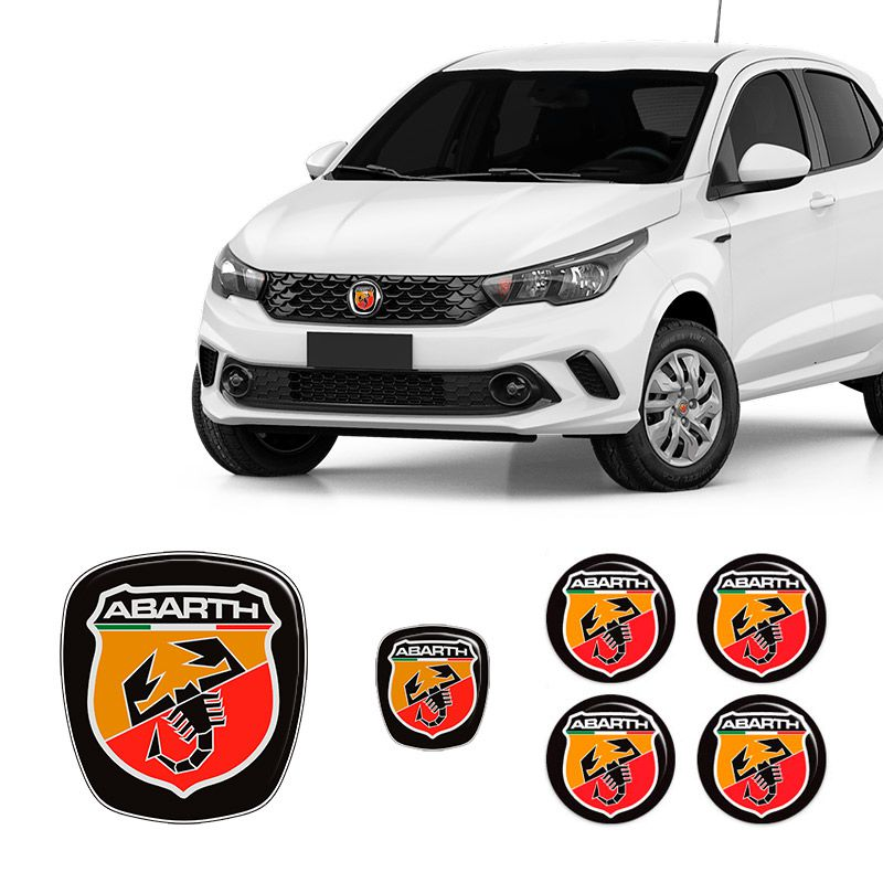 Kit 6 Adesivos Emblemas Abarth Fiat Argo
