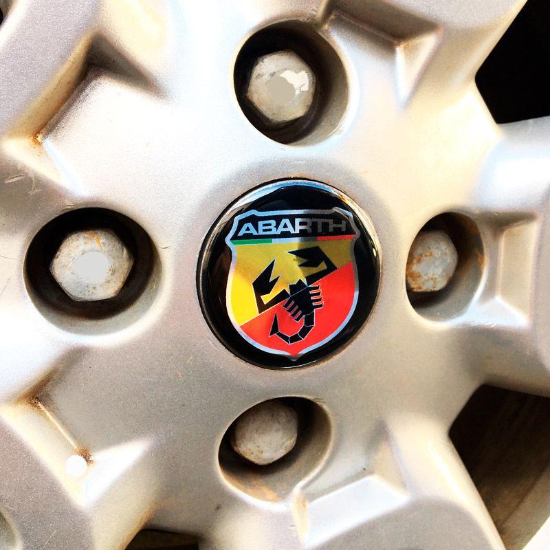 Kit 6 Adesivos Emblemas Abarth Fiat Mobi