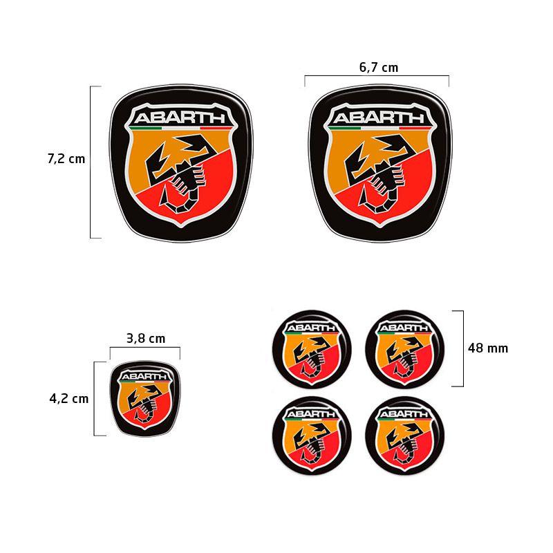 Kit 7 Adesivos Emblemas Abarth Fiat Grand Siena