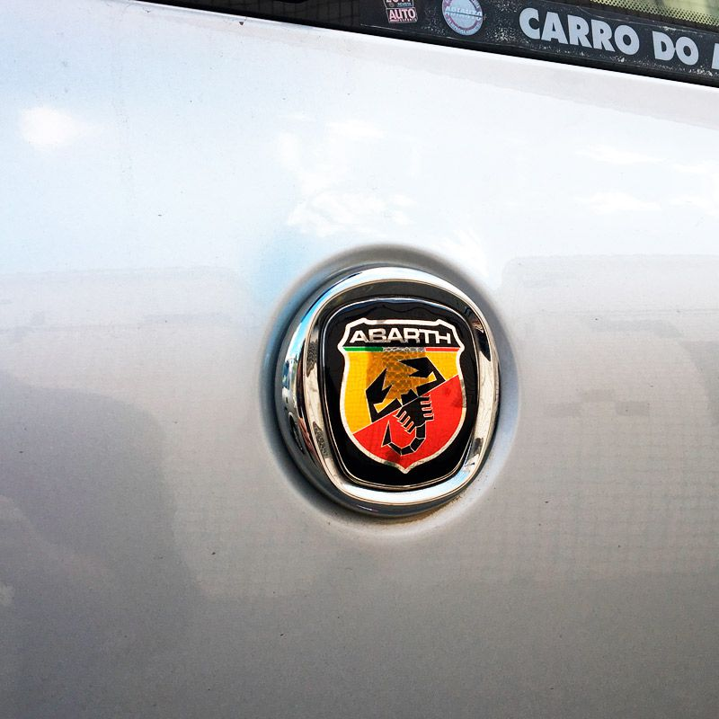 Kit 7 Adesivos Emblemas Abarth Fiat Novo Palio