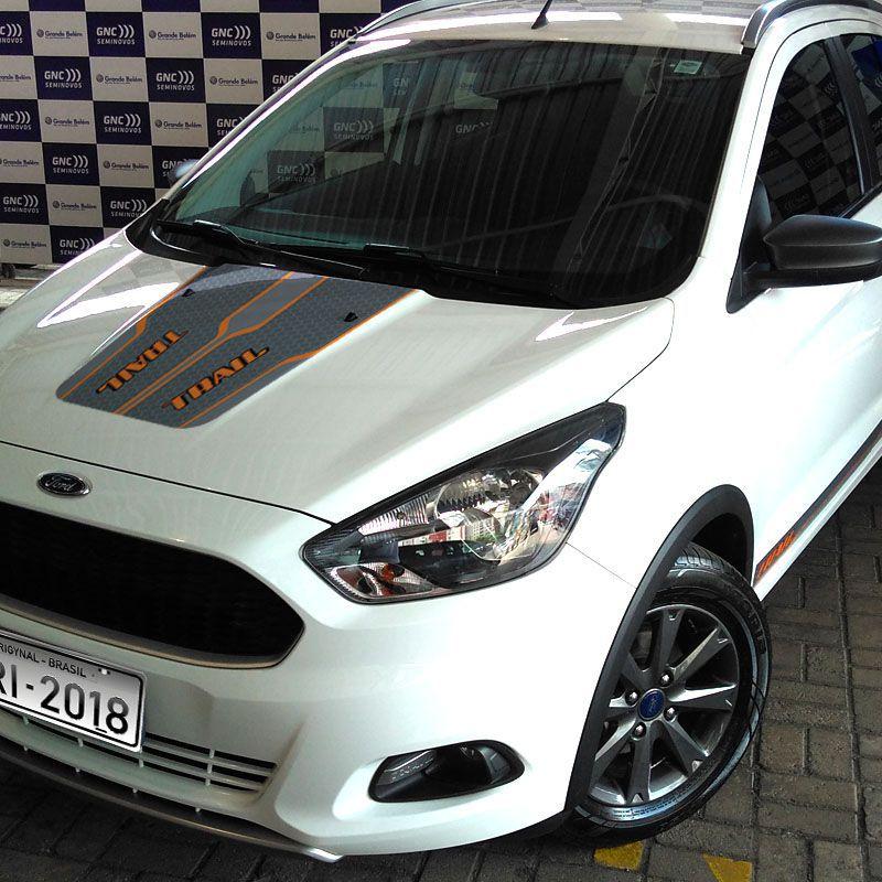 Kit Adesivo Do Capô Ford Ka Trail 2018 + Soleira Protetora