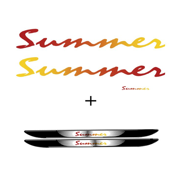 Kit Adesivo Faixa Saveiro Summer Completo + Soleira Da Porta