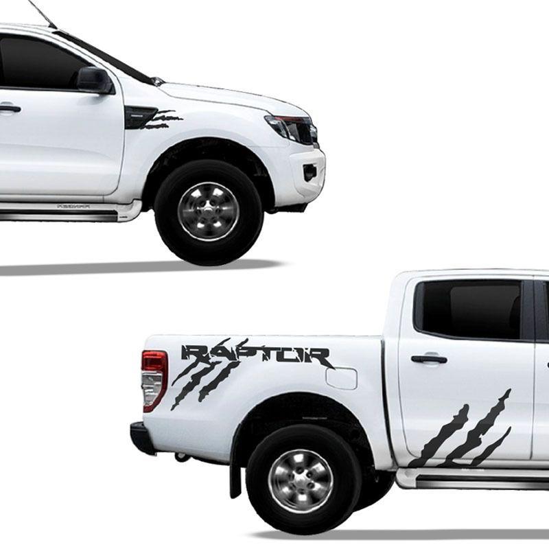 Kit Adesivo Ford Ranger Raptor Faixa Lateral Grafite Tuning