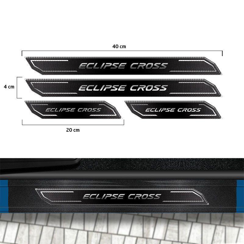 Kit Adesivo Fundo De Placa Eclipse Cross + Friso + Soleira