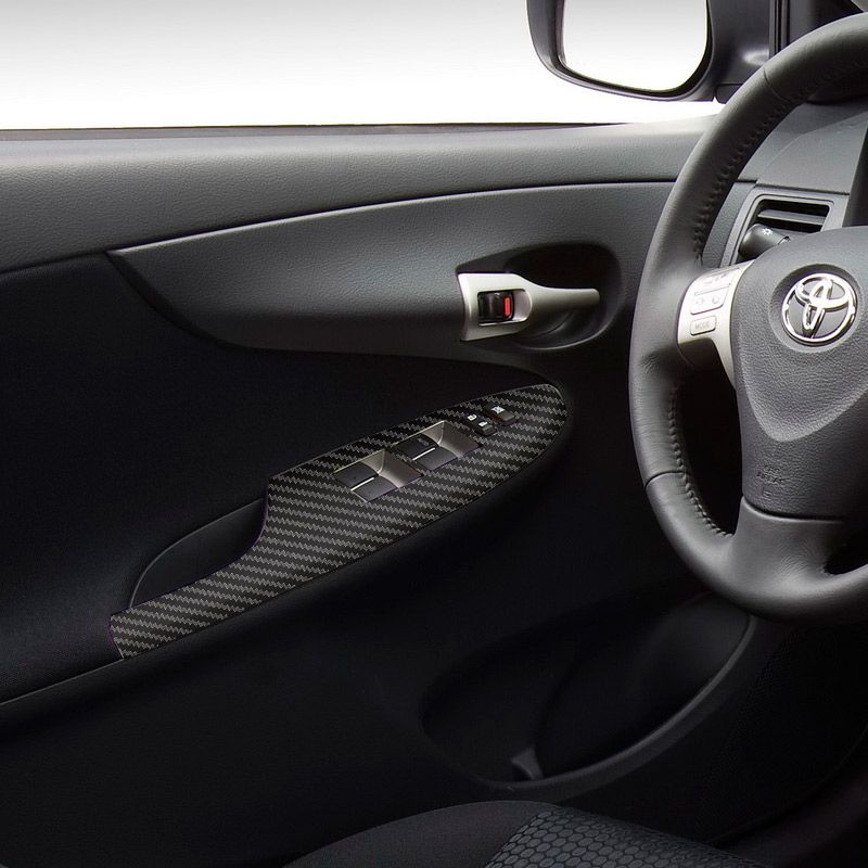 Kit Adesivo Painel Corolla 2009/12 Aplique Fibra De Carbono