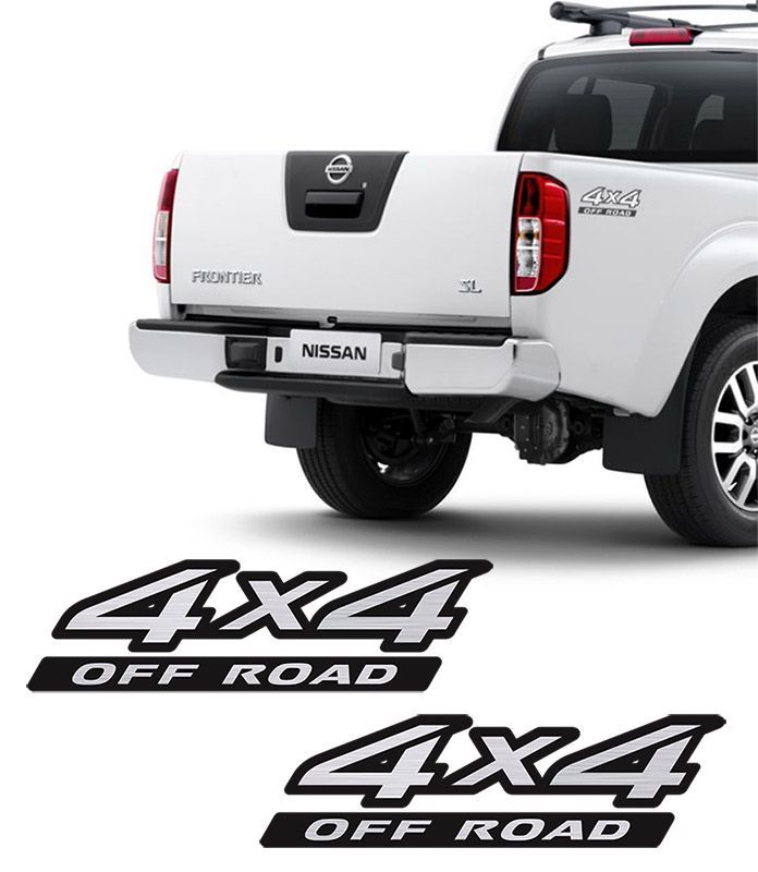 Kit Adesivos 4x4 Off Road Frontier + Soleira Com Black Over