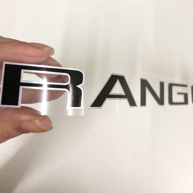Kit Adesivos 4x4 Ranger Xl 2013 A 2016 Preto + Emblema Tras.