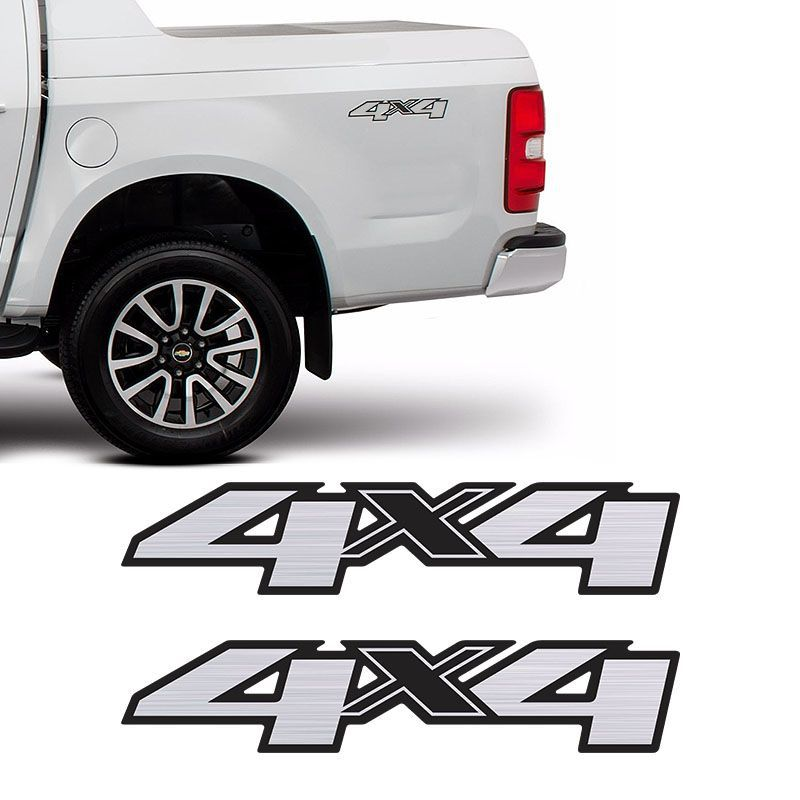 Par Adesivos 4x4 S10 Ltz High Country Blazer 13/19 Escovado