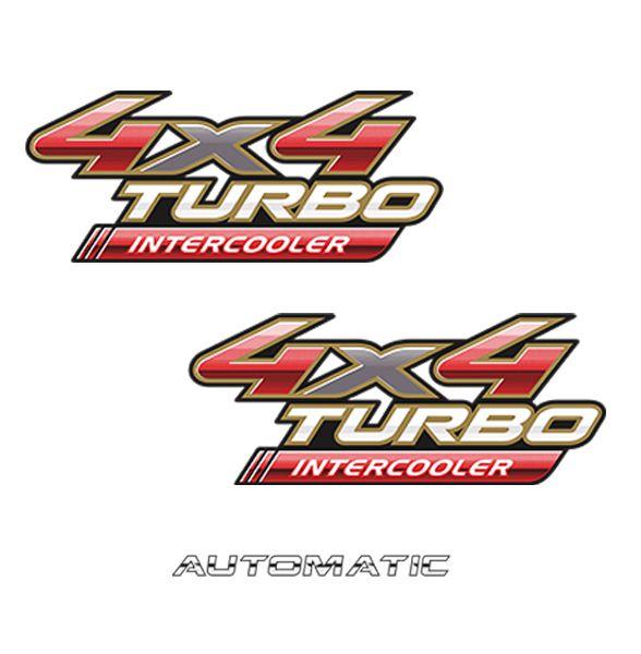 Kit Adesivos 4x4 Turbo Intercooler Hilux 09/12 + Automatic