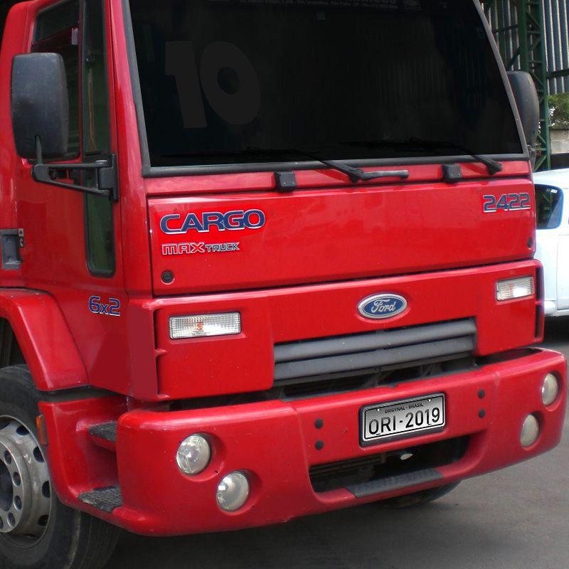 Kit Adesivos Cargo 2422 Max Truck 6x2 Emblema Caminhão Ford