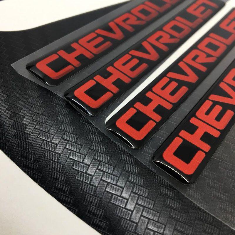 Kit Adesivos De Roda Cruze Fibra De Carbono Emblema Vermelho
