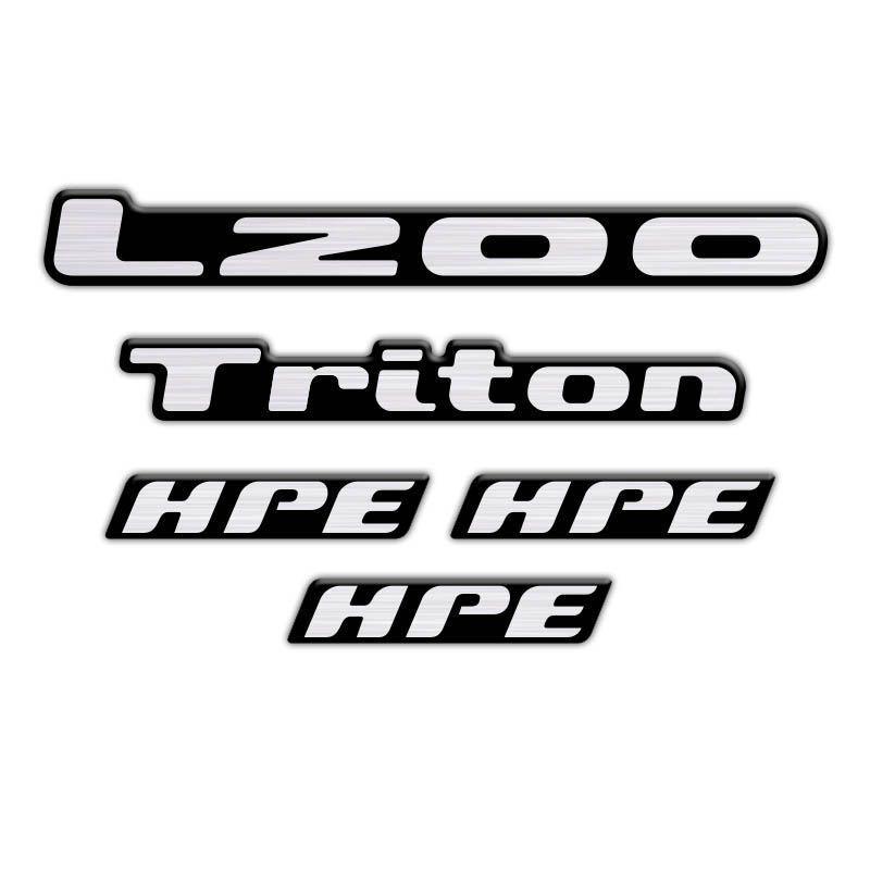 Kit Adesivos Emblema L200 Triton Hpe 2008 Resinados