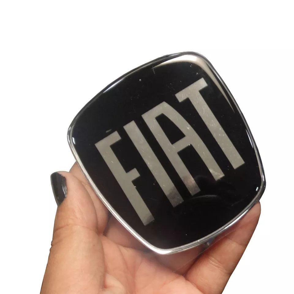 Kit Adesivos Emblemas Fiat Black Piano Dianteiro Traseiro Bravo