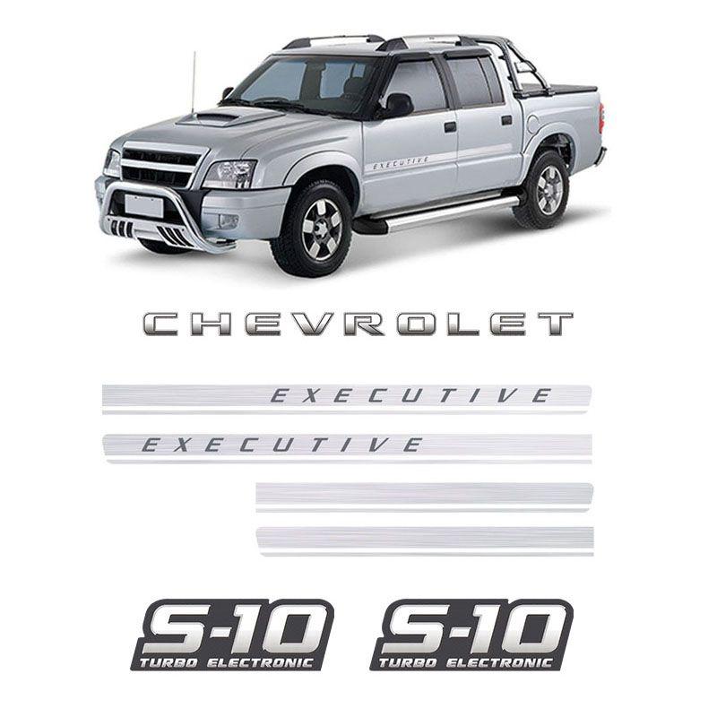 Kit Adesivos Faixas S10 Executive Chevrolet Turbo Eletronic