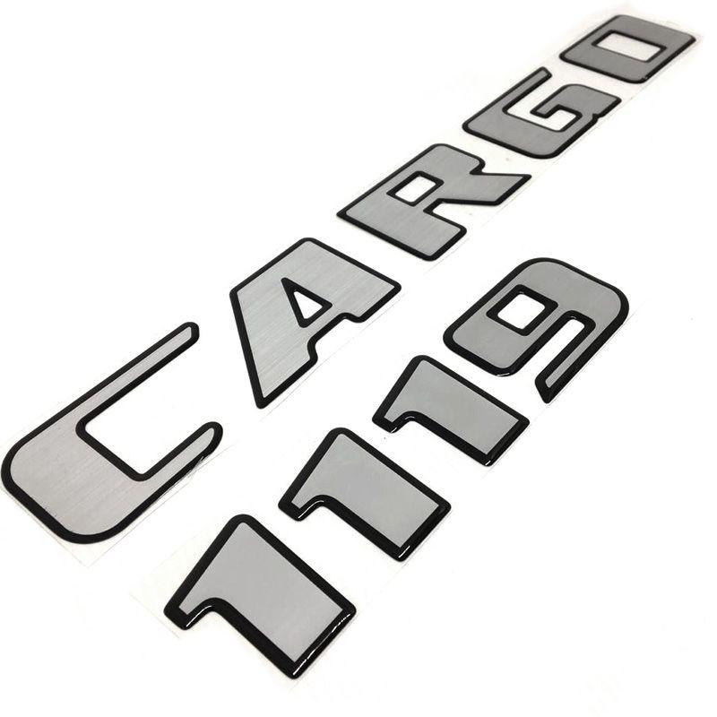 Kit Adesivos Ford Cargo 1119 Emblemas Capô Escovado Resinado