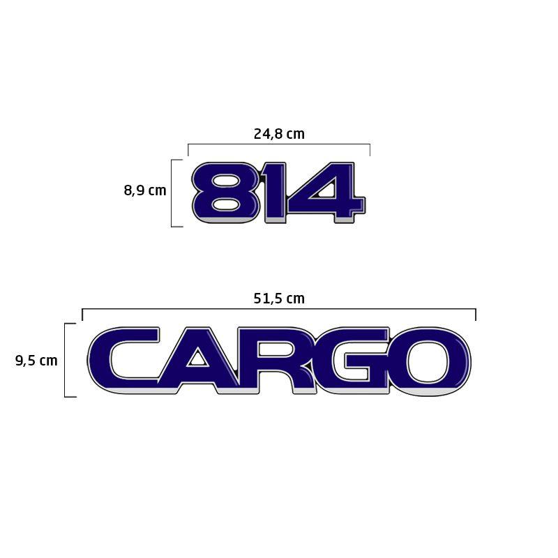 Kit Adesivos Ford Cargo 814 Emblemas Capô Caminhão Resinado