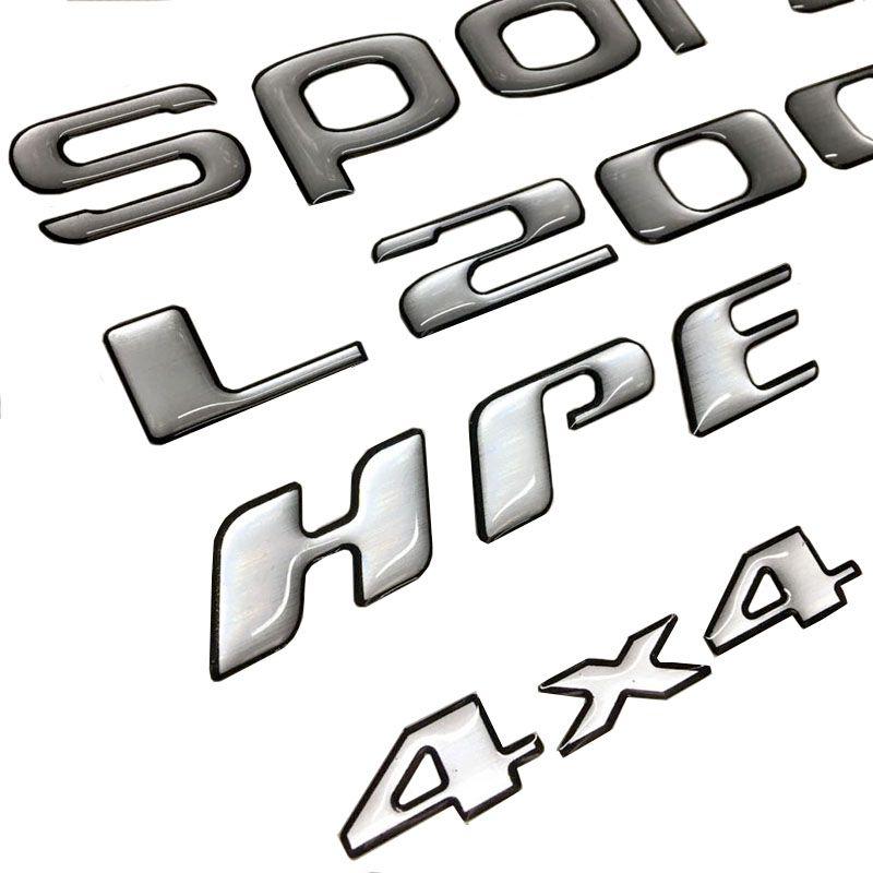 Kit Adesivos L200 Sport Hpe 4x4 Mitsubishi Resinado Escovado