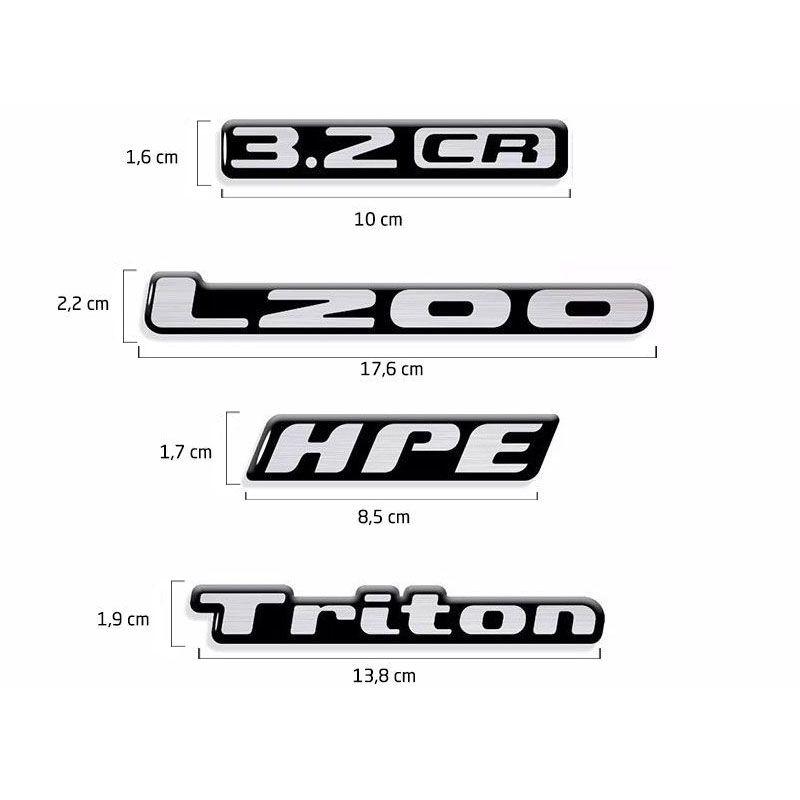 Kit Adesivos L200 Triton Mitsubishi Hpe 3.2cr Resinados
