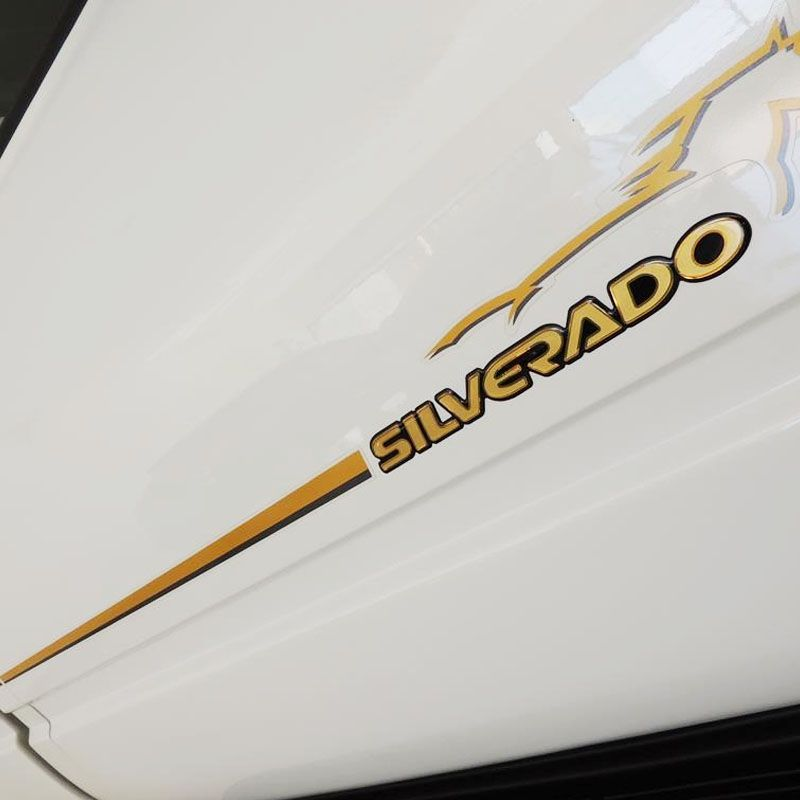 Kit Adesivos Resinados Silverado D20 98/06 E Faixa Lateral