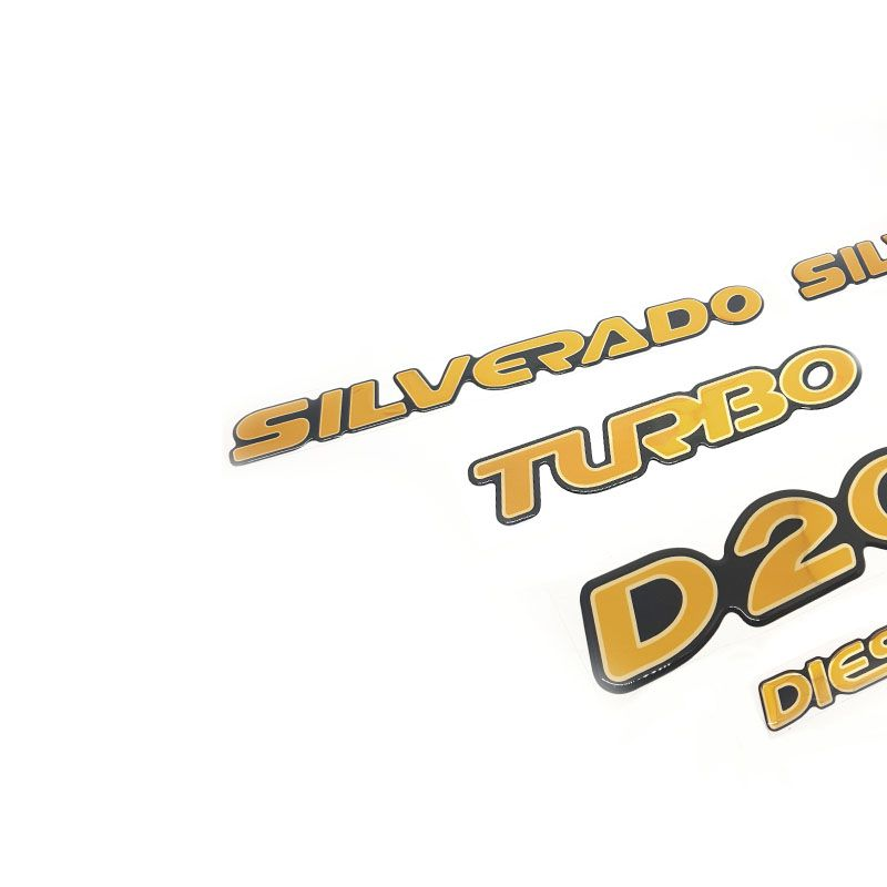 Kit Adesivos Resinados Silverado D20 98/06 E Faixa Traseira