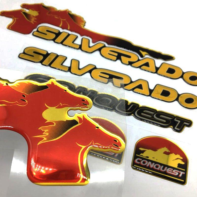 Kit Adesivos Silverado Conquest 99 Resinado + Faixa Traseira