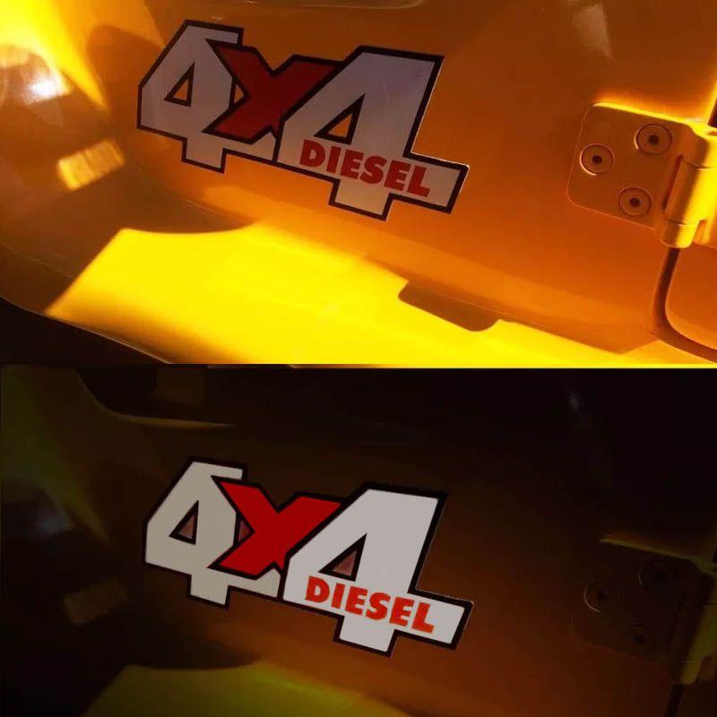 Kit Adesivos Troller 2005 4x4 Emblema Refletivo Prata Dakar
