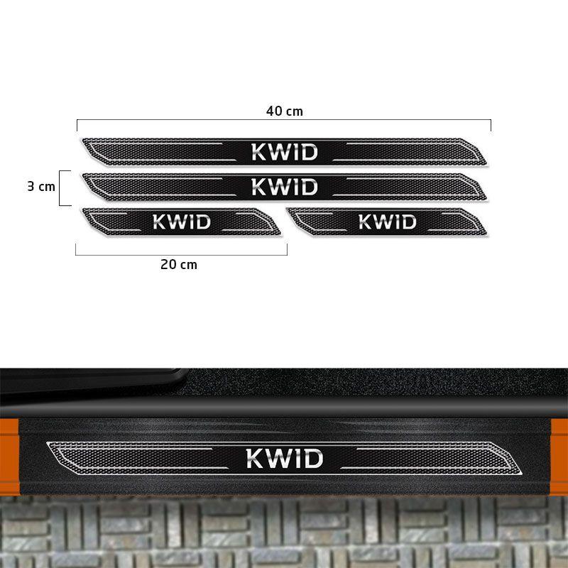 Kit Aplique Lateral Kwid 18/19 + Soleira Da Porta Protetora