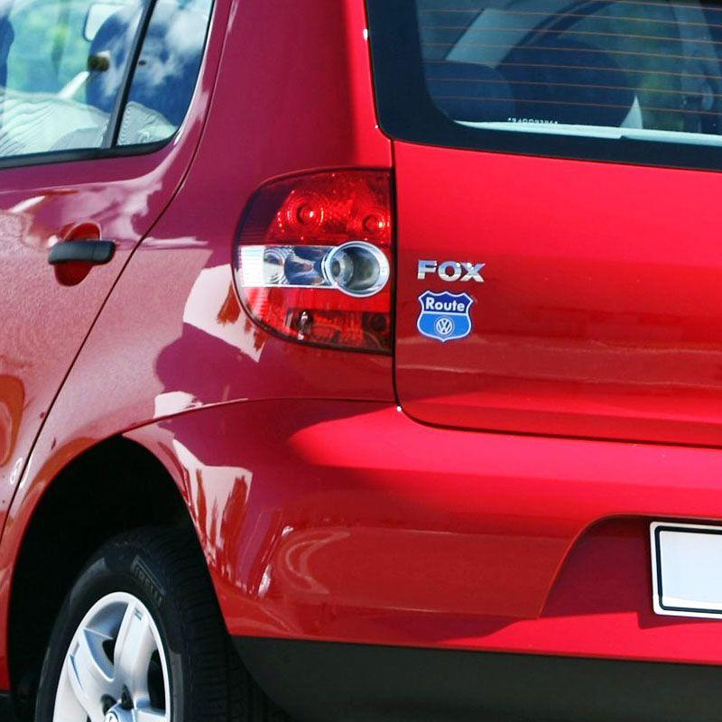 Kit Com 3 Emblemas Route Fox Space Fox Adesivo Volkswagen