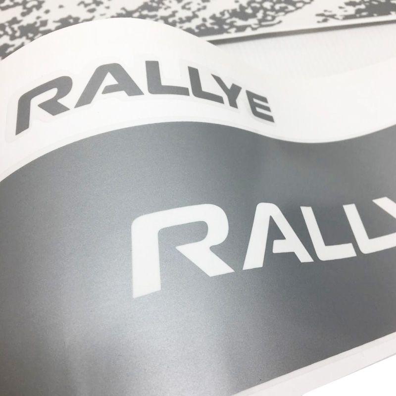 Kit Completo De Adesivo Faixa Lateral Gol Rallye G6 Prata