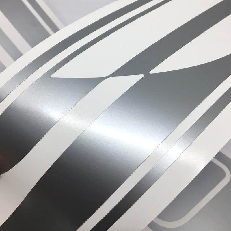 Kit Completo Faixa Agile Effect 10/14 Adesivo Lateral Prata