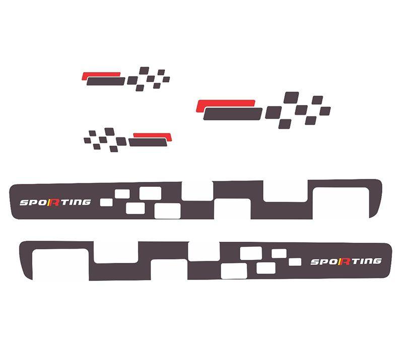 Kit Completo Faixa Lateral Uno Vivace Sporting Grafite