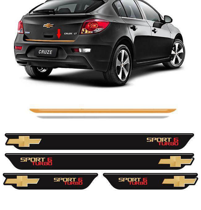 Kit Cruze Sport6 Turbo Soleira Black Over E Friso Gold 12/16