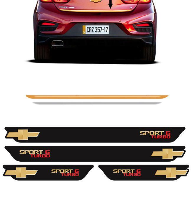 Kit Cruze Sport6 Turbo Soleira Black Over e Friso Gold 17/18