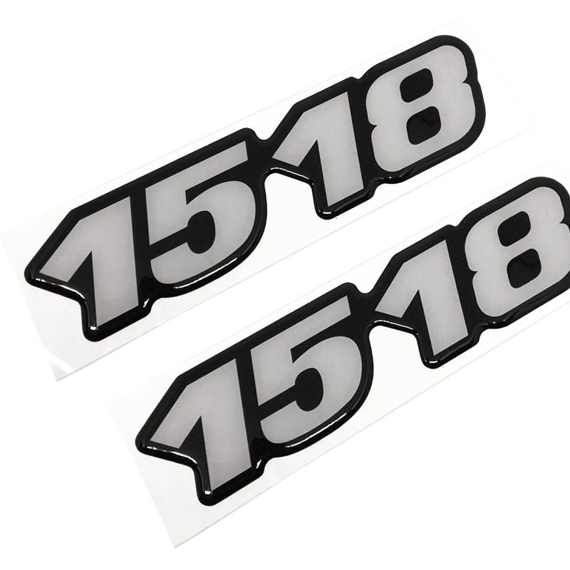 Kit Emblema 1518 Mercedes Benz Antigo Caminhão Resinado