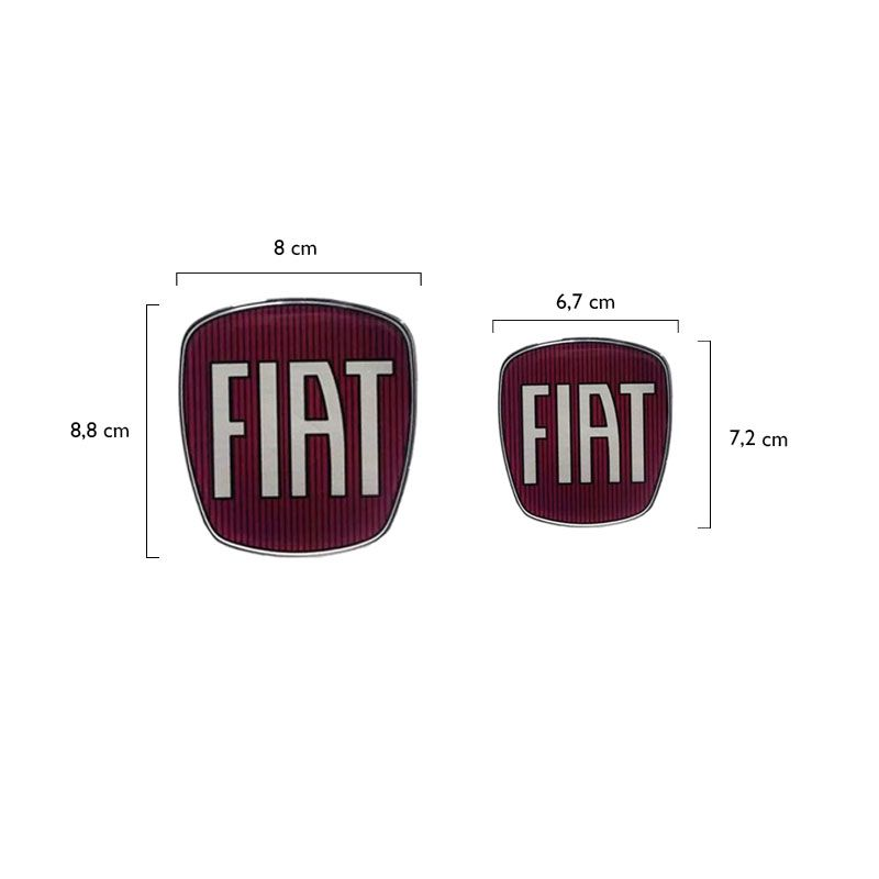 Kit Emblemas Da Maçaneta Fiat Strada Adesivo Resinado