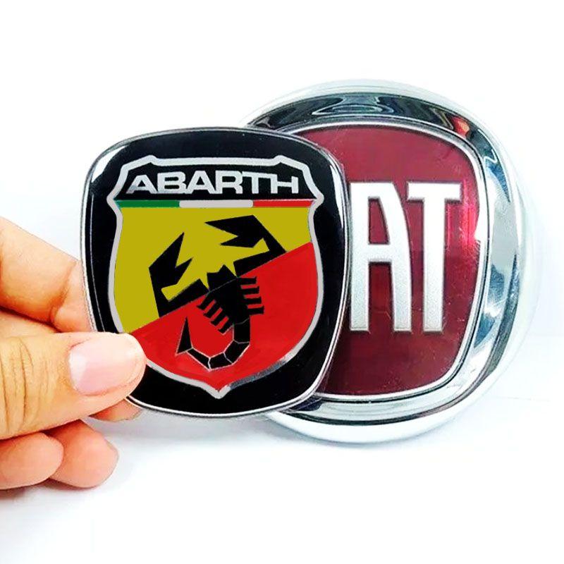 Kit Emblemas Maçaneta Abarth Freemont + Soleira Protetora