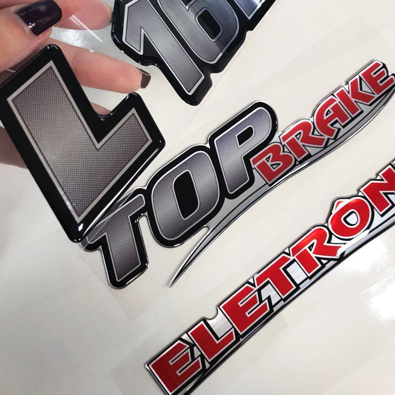 Kit Emblemas Mercedes Eletrônico L 1620 Top Brake Resinados