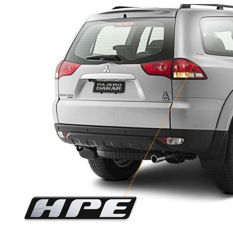 Kit Emblemas Mitsubishi Pajero Dakar Hpe Di-Dh 2014 Resinado