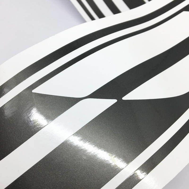 Kit Faixa Agile Effect 2010/2014 Adesivo Grafite + Emblemas