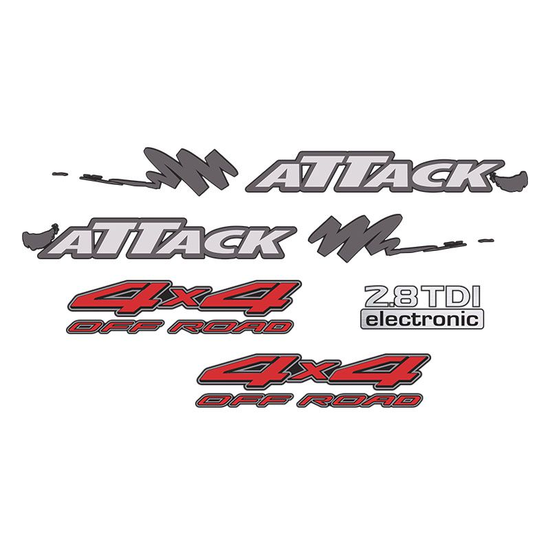Kit Faixa Attack Frontier 02/08 4x4 Off Road 2.8 Tdi Prata