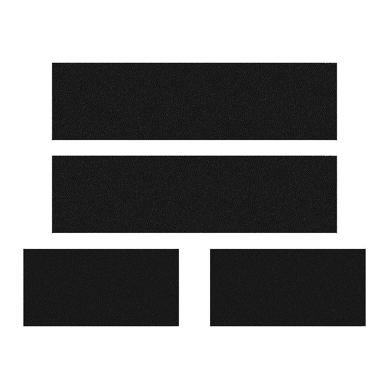 Kit Faixa Black Bravo Sporting + Soleira Da Porta + Emblemas
