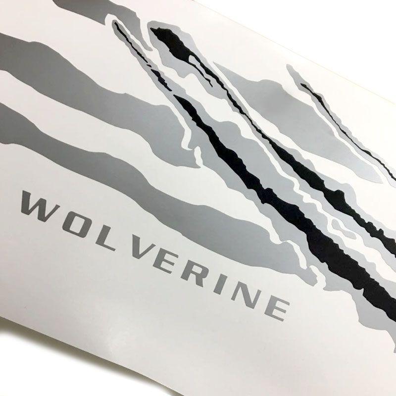 Kit Faixa Bravo Wolverine Prata + Soleira Da Porta + Emblema