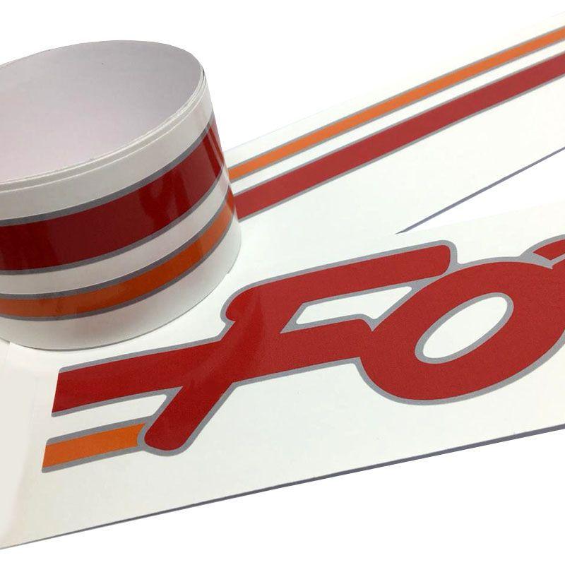 Kit Faixa Decorativa Ford Escort Formula Hobby Vermelho
