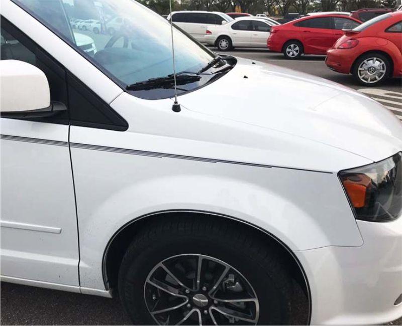 Kit Faixa Dupla Decorativa Branco Adesivo Universal Carro