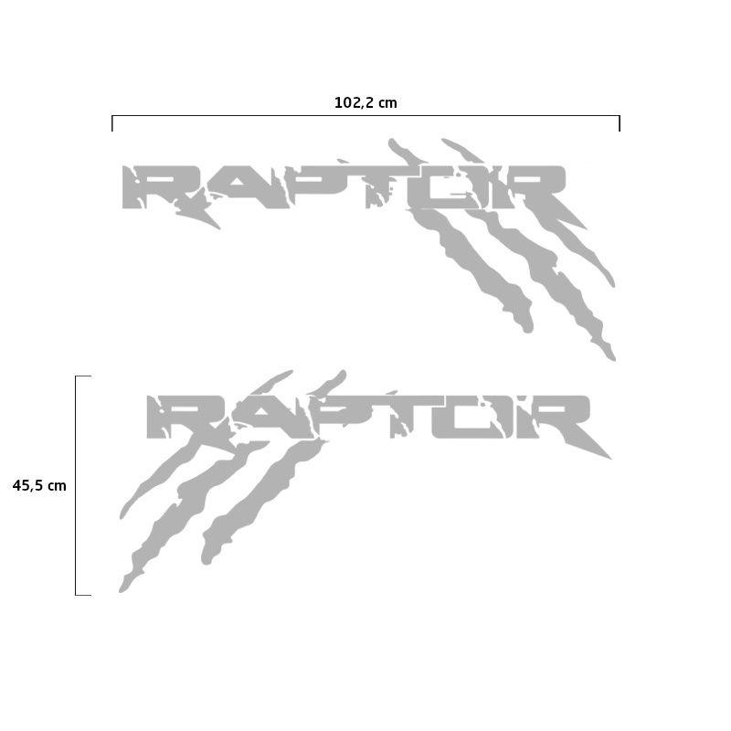 Kit Faixa Ford Ranger Raptor 2013/2019 Adesivo Lateral Prata