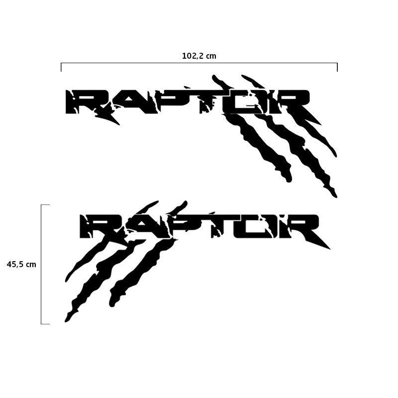 Kit Faixa Ford Ranger Raptor 2013/2019 Adesivo Lateral Preto