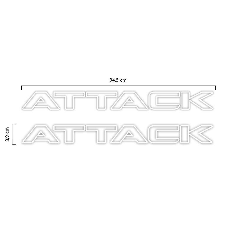 Kit Faixa Frontier Attack 2012/2016 Modelo Original Adesivo Branco