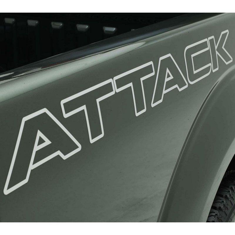 Kit Faixa Frontier Attack 12/ Modelo Original Adesivo Prata
