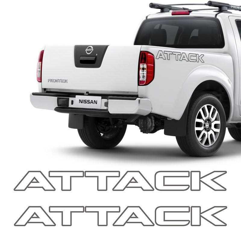 Kit Faixa Frontier Attack Modelo Original Adesivo Grafite