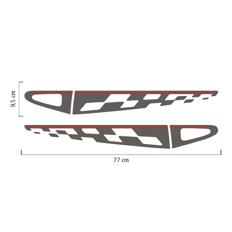Kit Faixa Lateral Adesivo Sandero GT Line 2013 Grafite